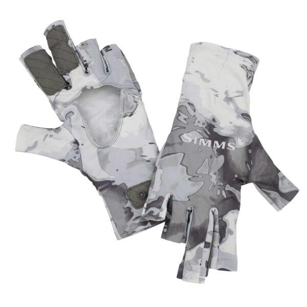 Simms Solarflex Sunglove Cloud Camo Grey