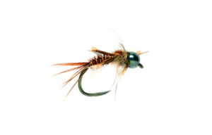 Fulling Mill Czech Pheasant Tail Black Barbless Fly