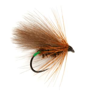 Fulling Mill SR Green Butt CDC Caddis Barbless Fly