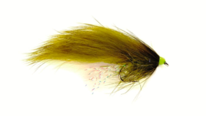 Fulling Mill SR Hot Head Straggle Zonker Olive #10 Fly