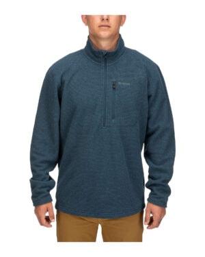 Simms rivershed quarter zip fleece carbon colour
