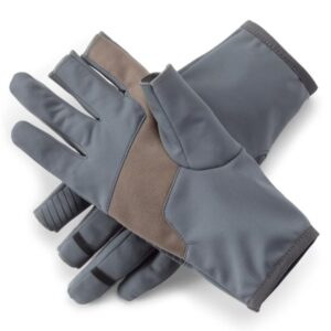 Orvis trigger finger softshell gloves inside view