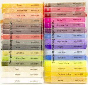 Semperfli Sparkle Dubbing Dispenser Range 2 Boxes 30 Dubbings