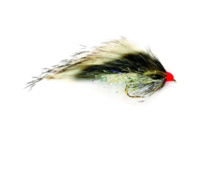 Fulling Mill SR Hot Head Straggle Zonker grizzly fly